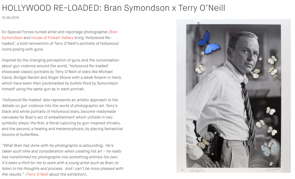 Terry O'Neil Photography Bran Symondson