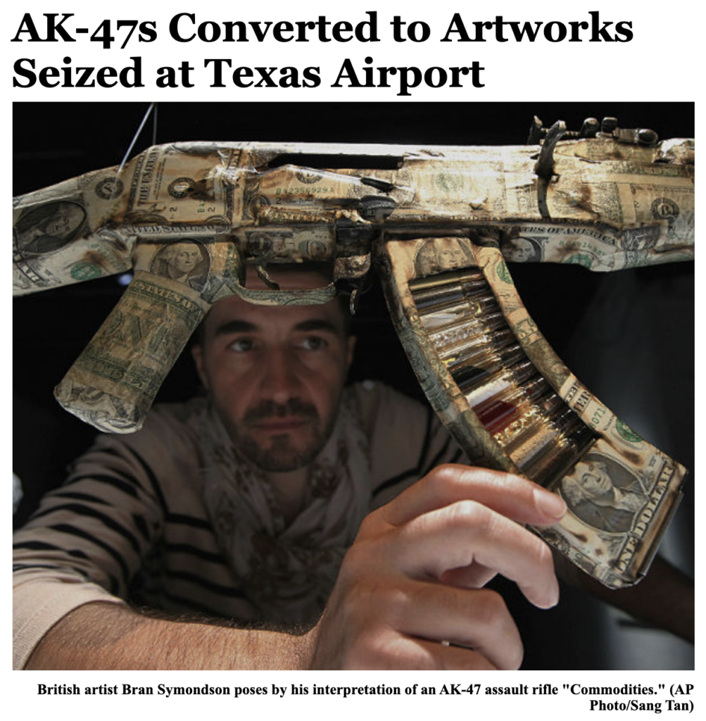 AK47 Art Work Bran Symondson
